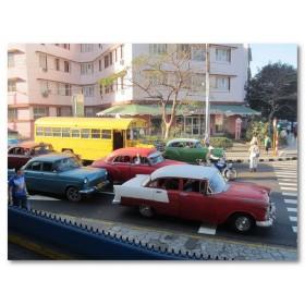 Αφίσα (αυτοκίνητα, παλιός, ρετρό, δρόμος, sunny)